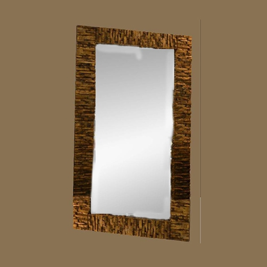 Mosaic Bamboo Root Mirror Tall