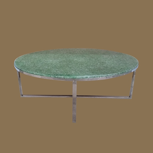 Chipped Glass Resin Coffee Table Round