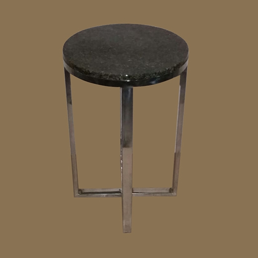 Chipped Glass Resin Side Table (Round)