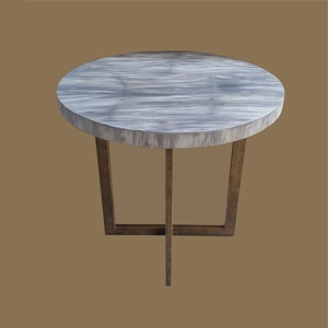 PW LAMINATED COFFEE  TABLE  on Iron Base