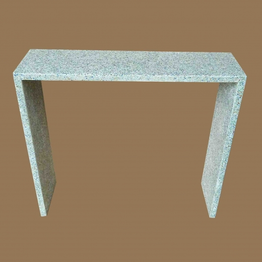 Crushed Glass White resin Console on Crushed glass white resin base